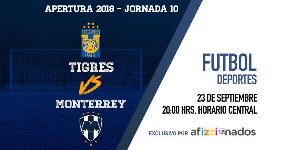 En Monterrey existen dos tipos de personas: los que le van a Tigres y los que le van a Rayados. Sigue esta noche el Clásico Regio en exclusiva por afizzionados. https://t.co/r0IhB0wMQ9