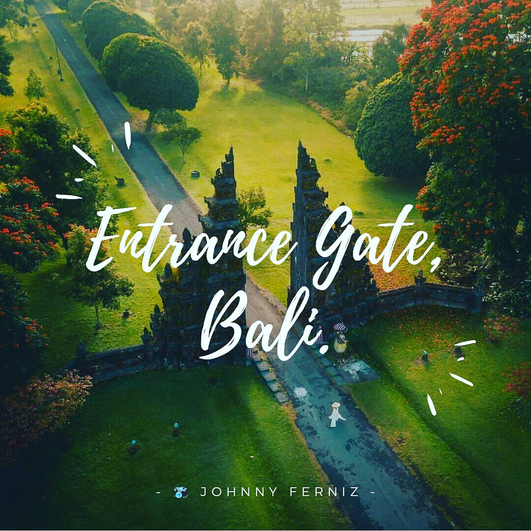 Entrance Gate, Bali, Indonesia Johnny Ferniz#entrancegate #bali #indonesia #wonderful_places #travelchannels #travelholic #travel #picoftheday #travelgram #vacation #holiday  - Ukustom