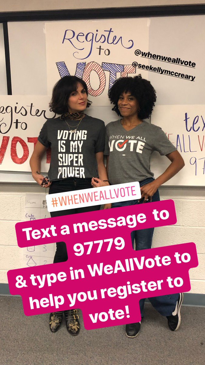 Here with my girl @KellyMcCreary 🇺🇸👊⭐️ @WhenWeAllVote