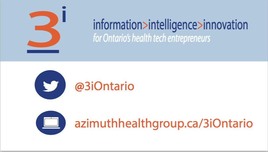 Updated list of opportunities to support #healthtech in Ontario in this week's @3iOntario digest: Now posted  http://bit.ly/2t8ljGY