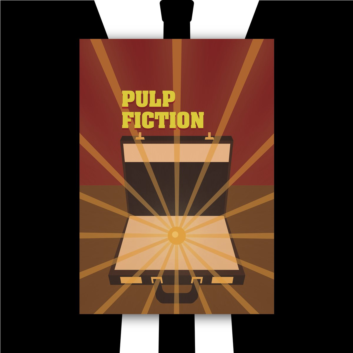 Oops Pulp Fiction What Do You Think Was Actually In The Suitcase Wollongong Pulpfiction Conceptart Poster Posters Posterdesign Posterart