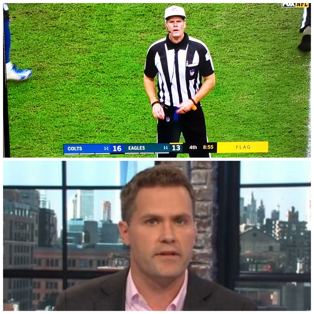 So we&#39;re gonna act like @KyleBrandt wasn&#39;t officiating in Philly? You ain&#39;t slick bro  @nflnetwork <br>http://pic.twitter.com/ic8k4sf3AC