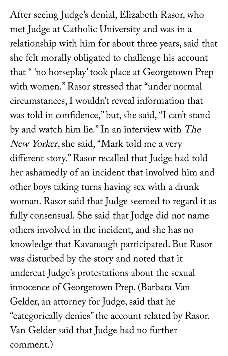 Whoa — the most damning element in this new Mayer/Farrow Kavanaugh story might be this buried down low https://t.co/kkiUJoQTyZ