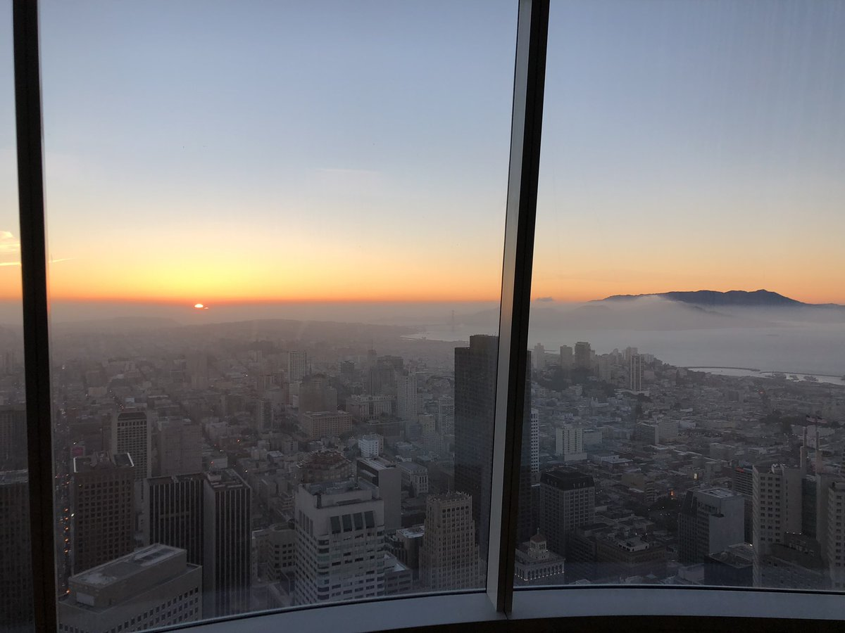 The top of Salesforce Tower (the Ohana Floor) is now open.  No offices— just seating to enjoy the amazing views. Soon the public will be invited up free of charge. This is a powerful space to be shared/enjoyed by everyone in our city. Thank you to everyone who made this possible.