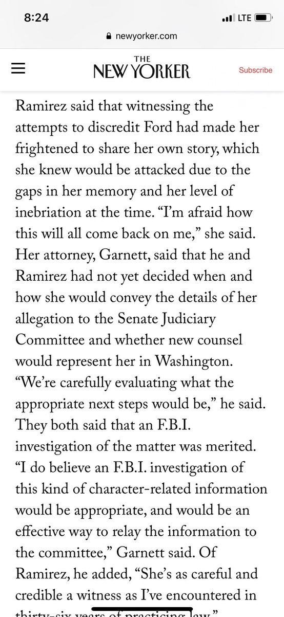 Deborah Ramirez, Yale classmate of Kavanaugh's, wants to talk to the FBI about her allegation.