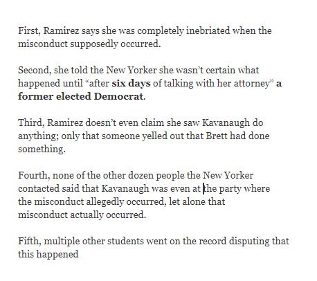"""In Ronan Farrow article Deborah Ramirez says she wasn't certain what happened until """"after six days of talking with her attorney"""" a former elected Democrat  Sounds like another activist attempt to delay the SCOTUS vote  Confirm Kavanaugh NOW!! #MAGA  https://t.co/xc4QXc375l"""