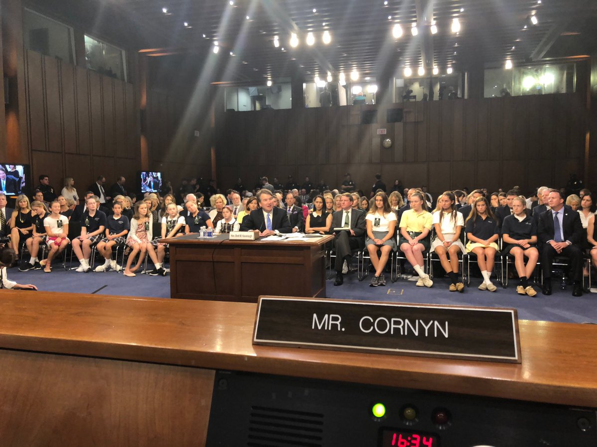 In retrospect, Kavanaugh using a girls basketball team as a prop during his confirmation hearing doesn't seem like a coincidence