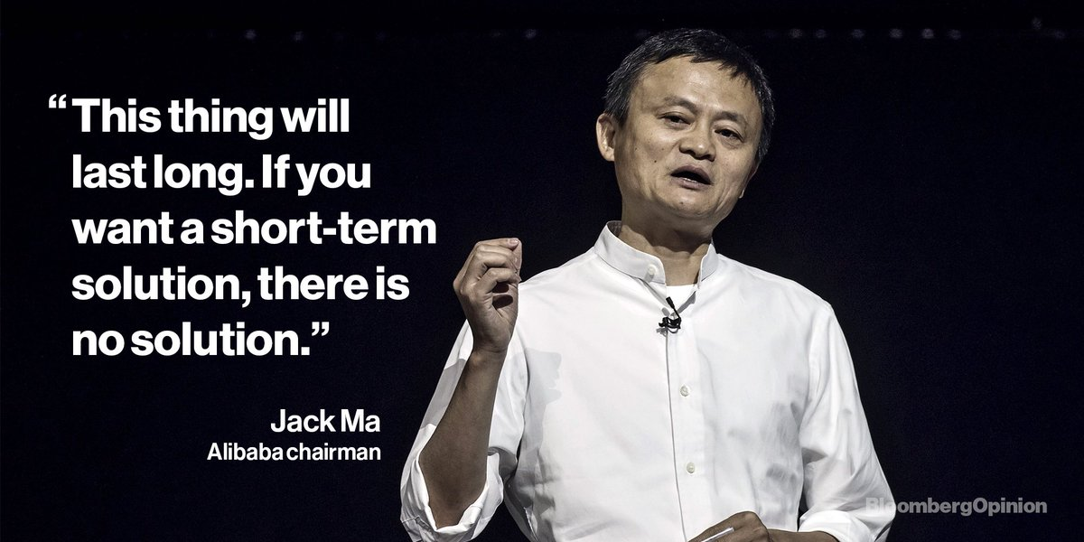 Billionaire Jack Ma has warned that the U.S.-China trade war could last 20 years.  Those hoping for a victory by Christmas should think again ➡️ https://t.co/Rdw1f9C921