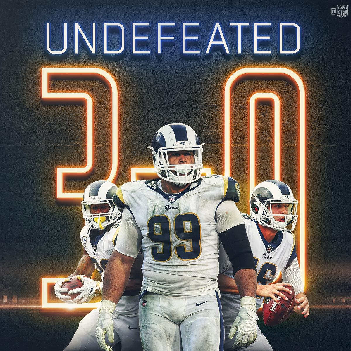 The @RamsNFL are still UNDEFEATED! #LARams https://t.co/RnQbZotA4Q