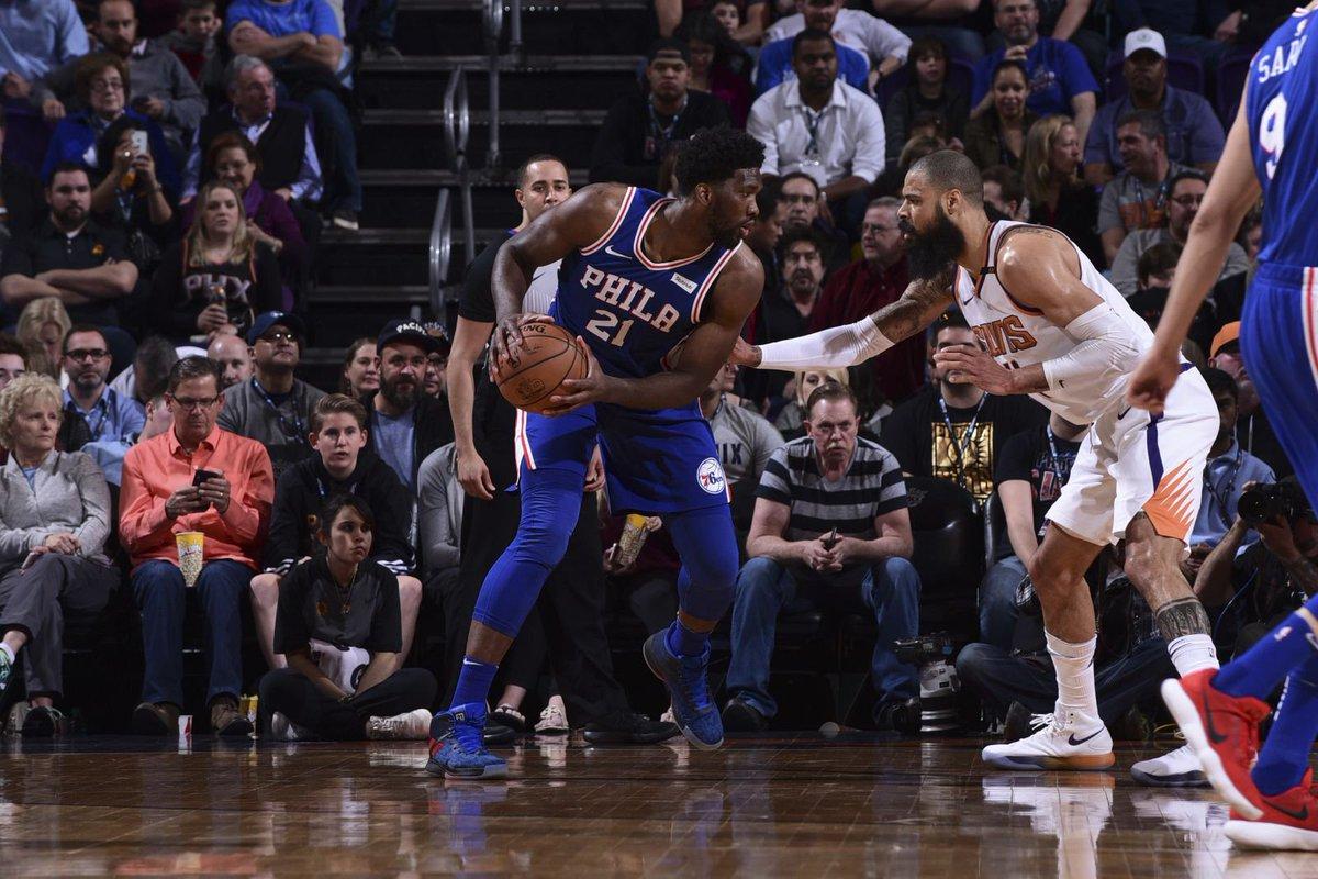 Joel Embiid has a man crush on Phoenix Suns rookie Deandre Ayton valleyofthesuns.com/2018/09/23/joe…