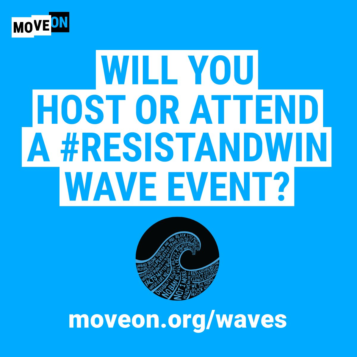 Attend a #ResistAndWin wave event in your area & end  con@GOPtrol of the House this November. RSVP HERE: https://t.co/Pd01tn2xny