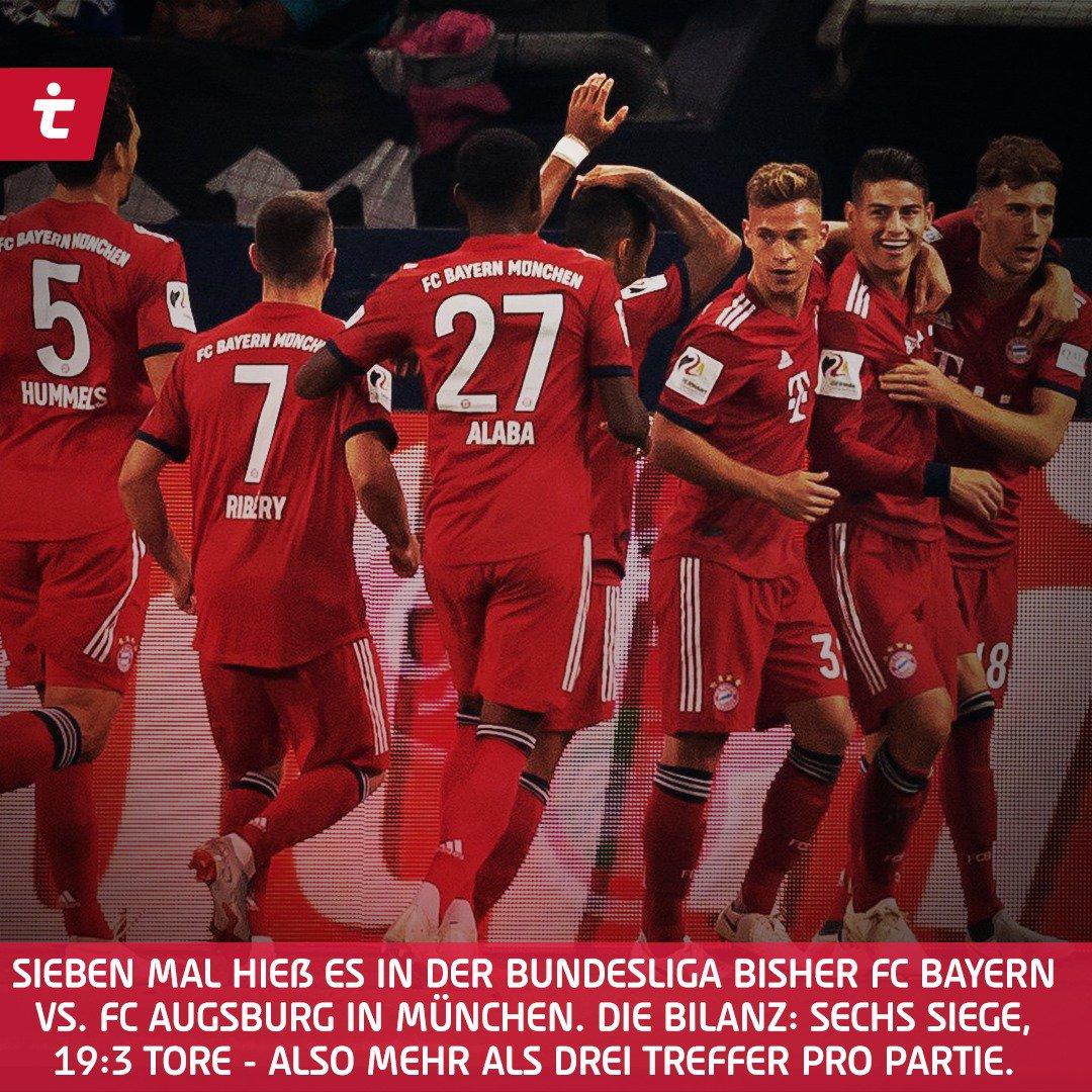 Starke Bilanz gegen Augsburg. 💪⚽  Was sind eure Tipps für morgen❓ #FCBFCA