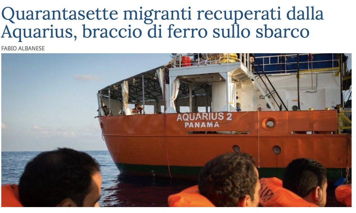 Riecco l'Aquarius, la nave fantasma di tutti e di nessuno. Il Salvini Show può ricominciare. Buona crociera a tutti.