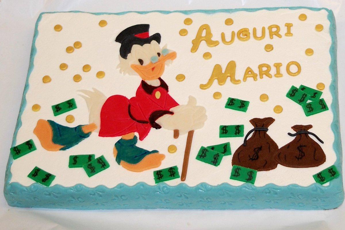 Torta Zio Paperone#pasticcerialacoccinella #Trieste #fvg #Italy #torta #granatina #chantilly #crema #bavarese #cartoni #fumetti #ziopaperone #unclescrooge #waltdisney #feste #bambini #compleanno #happybirthday #auguri #marzapane #dolci http:// www.pasticcerialacoccinella.com  - Ukustom