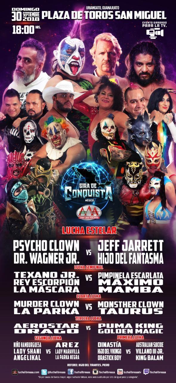 AAA: La Caravana Estelar llega a Uriangato - Wagner vs Jarrett 1