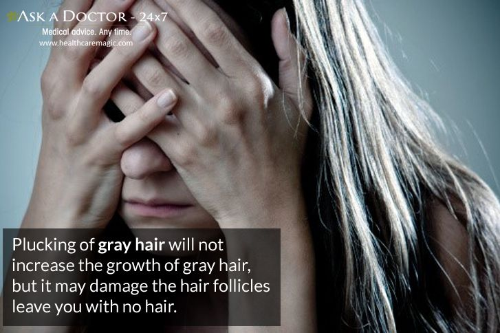 Largest Health Q&A site.  Ask a Doctor Online at      https://t.co/TwirbOpRi1   #plucking #grayhair #damage #hairfolicles#AskADoctor#DailyHealthTips#HealthcareMagic