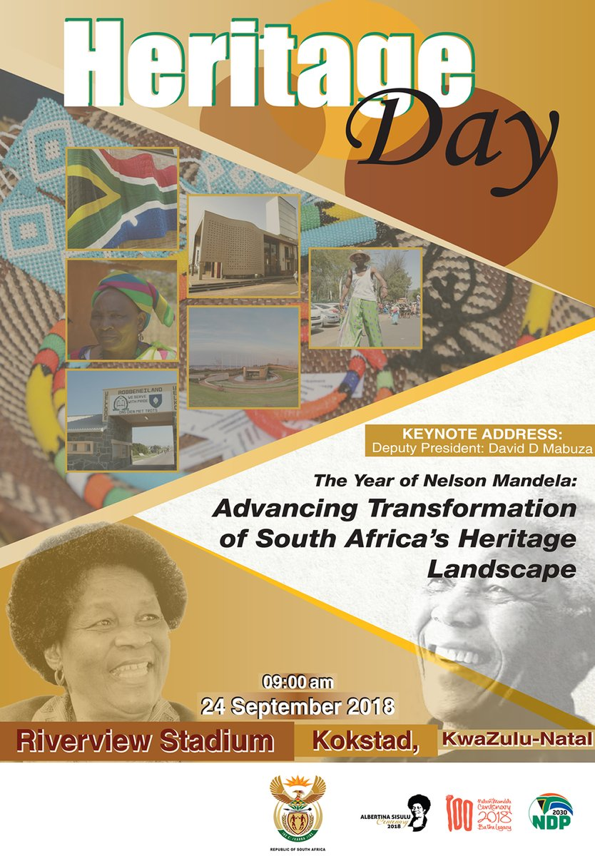 South African Governments Tweet The 2018 National Heritageday
