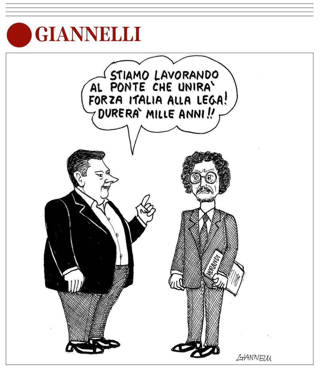 Il ponte di #Berlusconi fra @matteosalvinimi e @luigidimaio by #Giannelli via @Corriere  - Ukustom