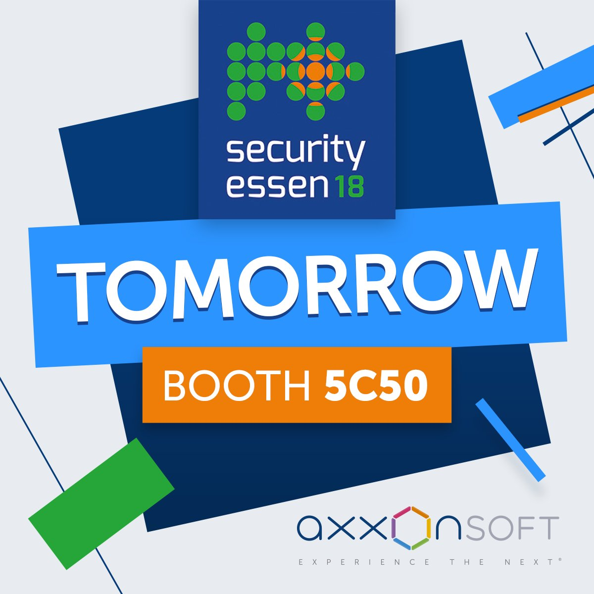 @securitysssen officially opens tomorrow! We&#39;re excited, how about you? Give us a Like if you plan to be there! #axxonsoft #securityessen #security #surveillance #vms #psim #axxonnext #intellect #axxonnet #deeplearning #artificialintelligence #cctv #onvif #gdpr #facialrecognition <br>http://pic.twitter.com/JtDjmryh0d