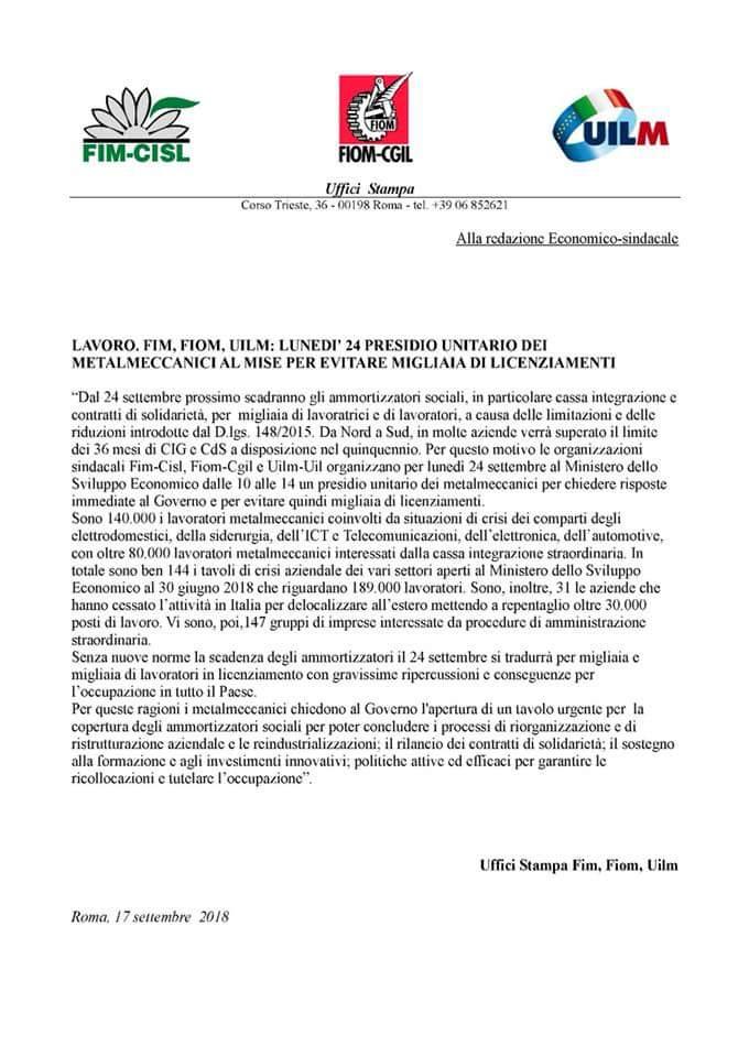 Siamo in viaggio verso #Roma x partecipare al presidio fim fiom #Uilm x chiedere urgentemente al governo un incontro sugli ammortizzatori sociali in scadenza Sono ancora troppi i tavoli di crisi aperti,non possiamo rischiare migliaia di licenziamenti.@luigidimaio @UilmNazionale  - Ukustom