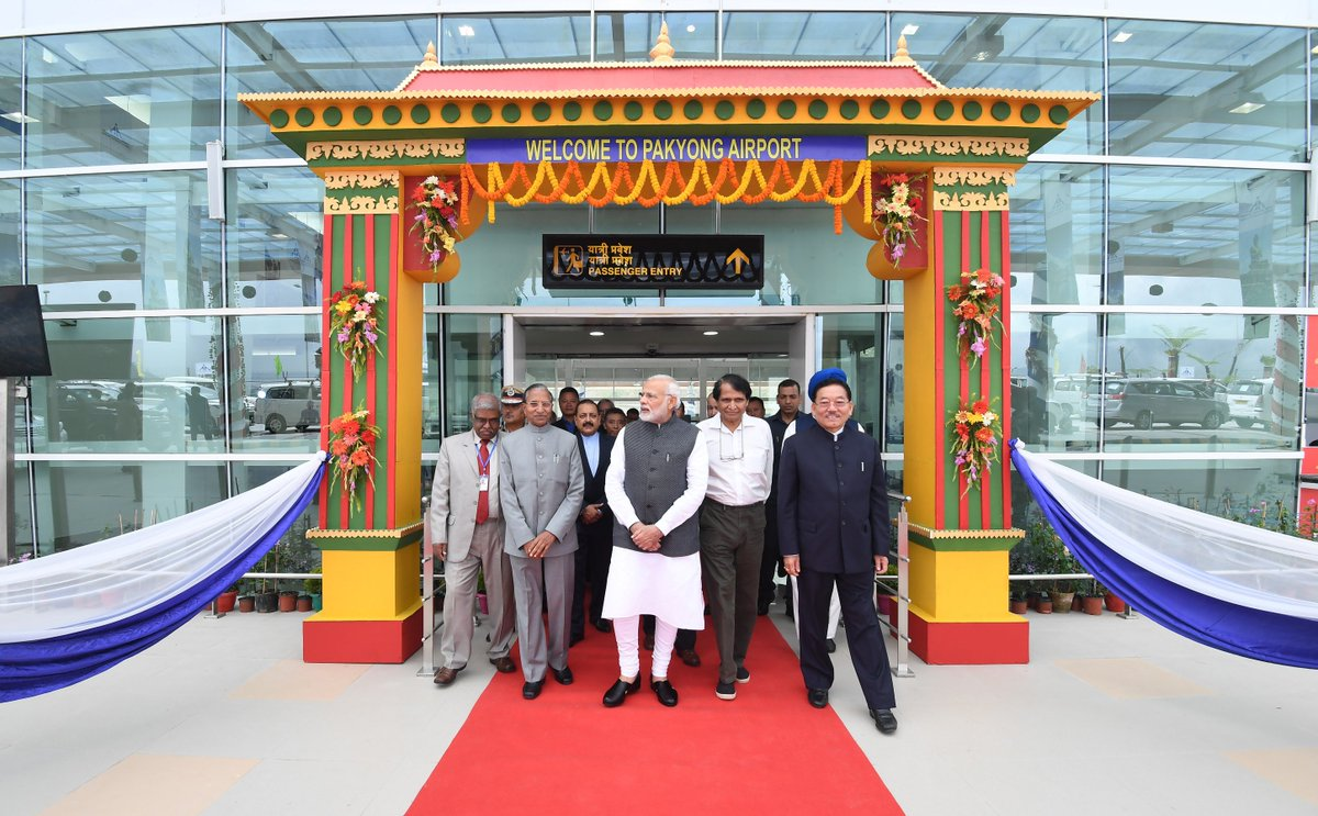 In the Pakyong Airport, Sikkim gets its first airport and India its one hundredth. Today is a momentous day for the aviation sector.   Delighted to have inaugurated the airport in Sikkim. Come, visit Sikkim and experience the beauty and hospitality of the state!