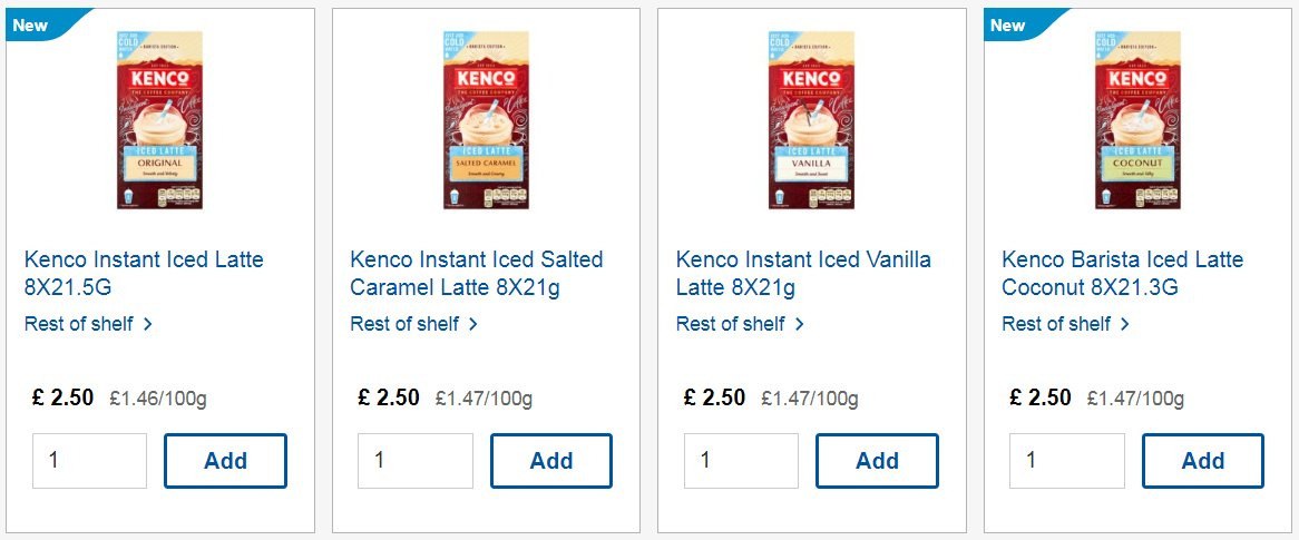 Tesco On Twitter Youll Love The New Kenco Instant Iced
