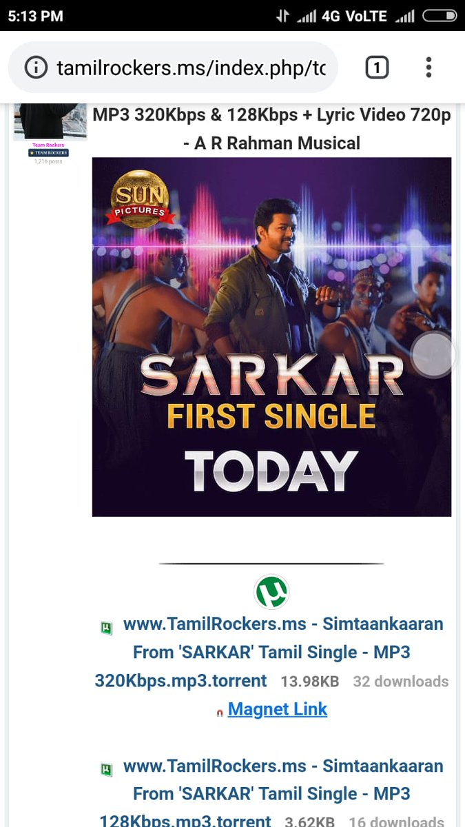 tamilrockers download sarkar