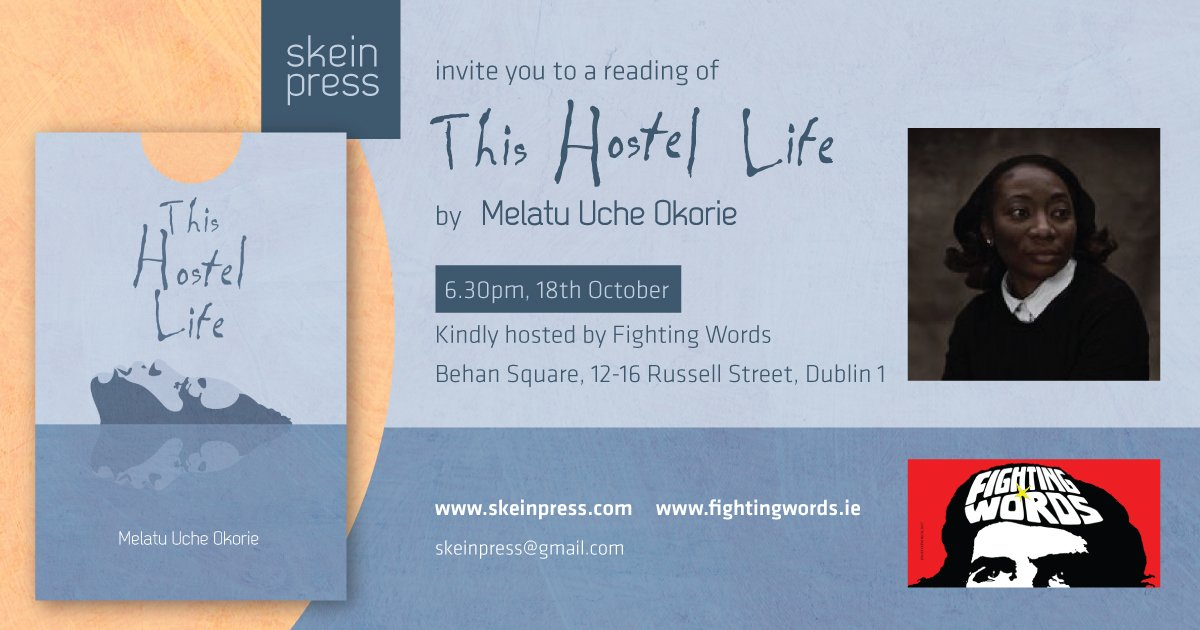 The lovely people in @FightingWordsie are very kindly hosting us on the 18th October next when Melatu will read from &#39;This Hostel Life&#39; and chat about her work. Informal evening with nibbles, open to all. Spread the word! <br>http://pic.twitter.com/OBiSnzlMsN