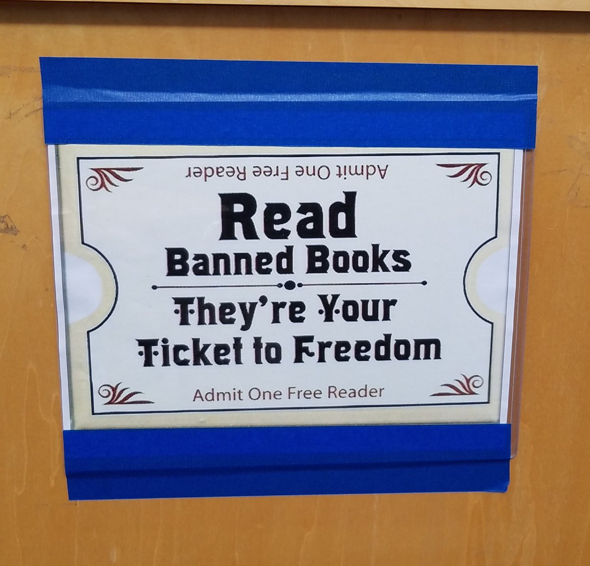 Banned Book Week! Stop by the media center & pick up a banned book to read! #BannedBooksWeek #SLM18