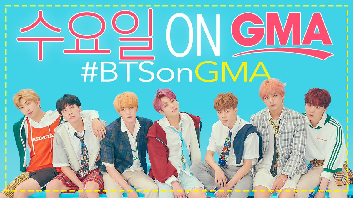 WEDNESDAY ON @GMA: Global pop sensation @BTS_twt will perform LIVE, in-studio, right here in Times Square! https://t.co/dCuujVag6a  #BTSonGMA #BTSARMY #BTS