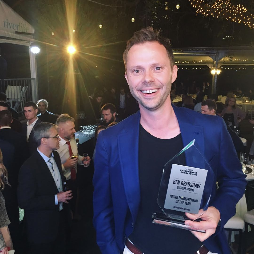We're beyond excited to announce our big win earlier this month... Disrupt Digital took out Digital Disruptors & Young Entrepreneur of the Year awards! Shout out and congratulations to Ben and the team! 🤗 #disruptdigital #youngentrepreneuroftheyear #digitalmarketing