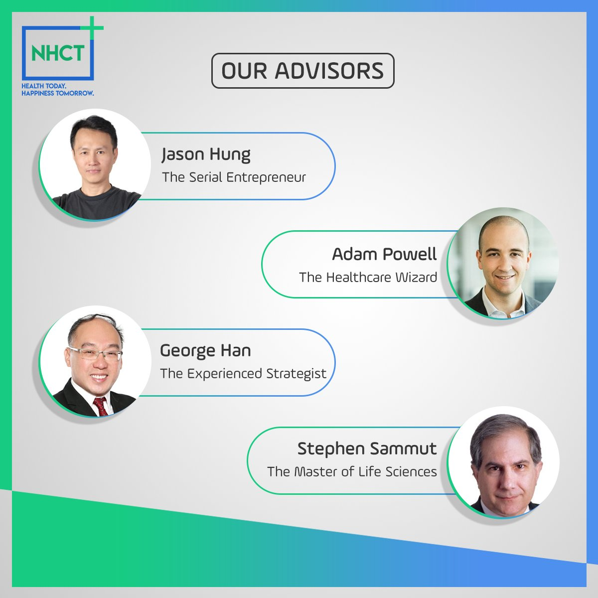 Meet the second set of our advisors who are guiding NHCT on the road to success. #blockchain #crypto #tokens #nhct #nanohealth #ethereum #ico #NHCToken #cryptocurrency #cryptolife #gym<br>http://pic.twitter.com/HC317zaz9x