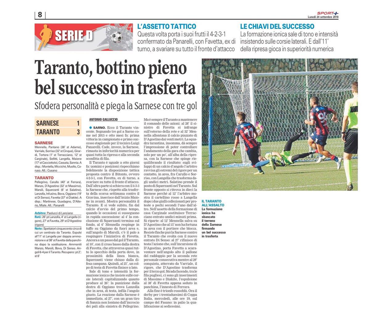 Buon inizio settimana dall'edicola rossoblu #Taranto #press #today  - Ukustom