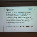 Image for the Tweet beginning: @OPRissanen sai keikan. #TietoKäyttöön #PolicyDesign