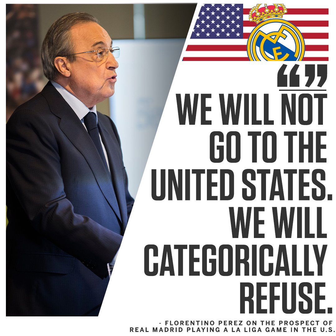Don't expect Real Madrid to play any La Liga games in the U.S. anytime soon...