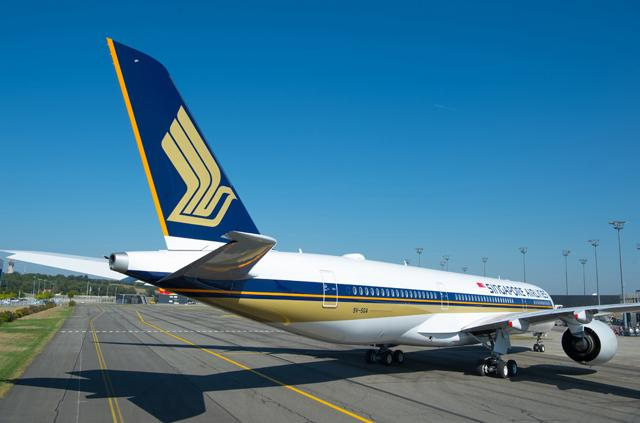 Video and Pictures: First delivered @Airbus A350-900ULR departs for Singapore @SingaporeAir #A350ULR https://t.co/kLKkDQww3i