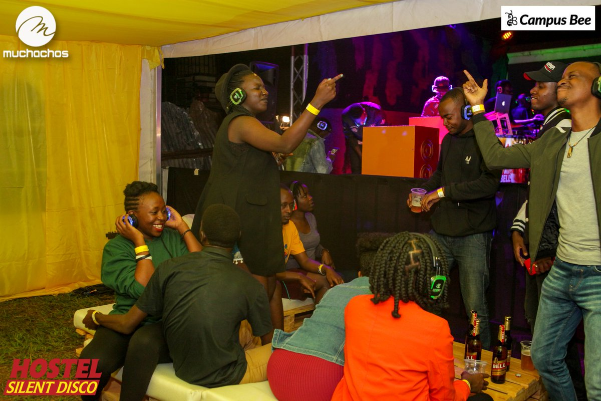 This is what we mean when we talk of #BellJamzSilentDisco Don&#39;t miss the next one. You don&#39;t know it might be your Hostel  Brought to you by @Bell_Lager @campusbeeug and organized by yours truly Muchachos Uganda<br>http://pic.twitter.com/CFWqW2jOtQ