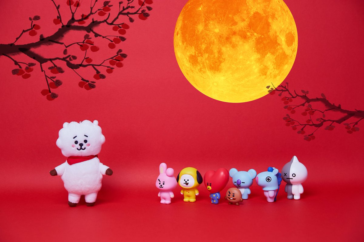 If you'll be my moon,  I'll be your galaxy🌕🌌 #MidAutumnday #BT21