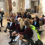 Year 3 have safely arrived at the Cathedral and are all set for the day ahead!