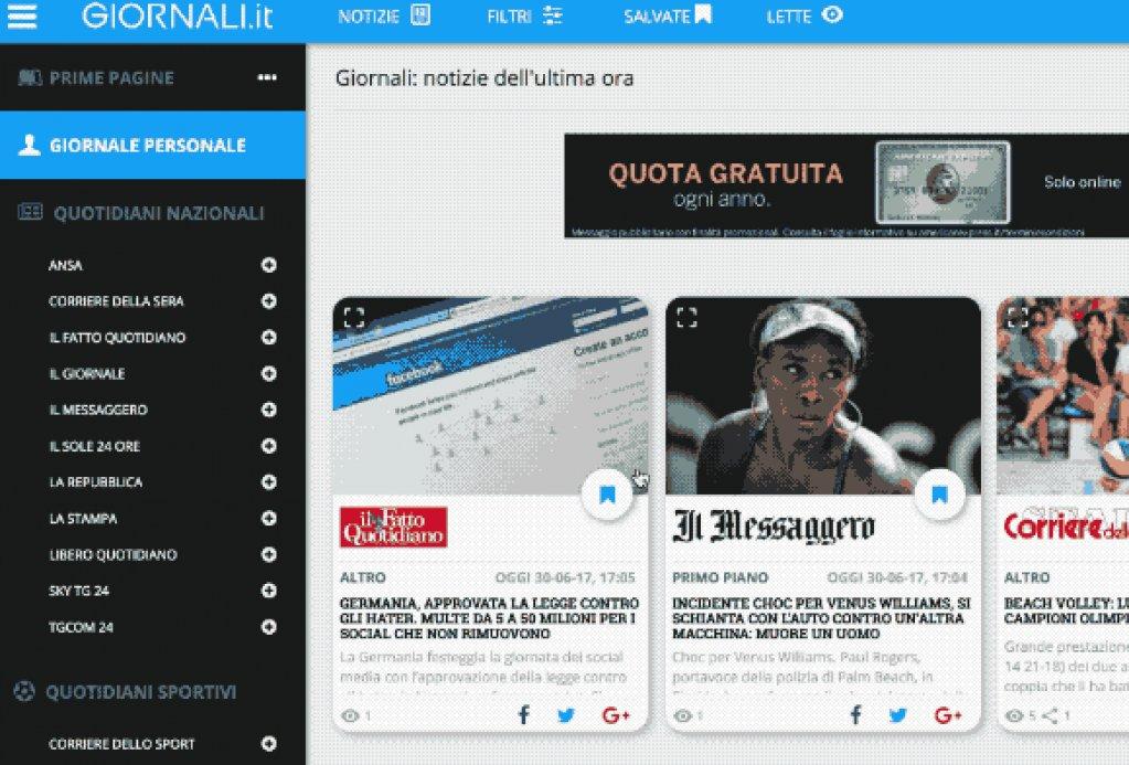Componi ora il tuo #GiornalePersonale su http://Giornali.it ==> e leggi le #ultimenotizie e #news dei tuoi #giornali sportivi e #quotidiani nazionali in un\