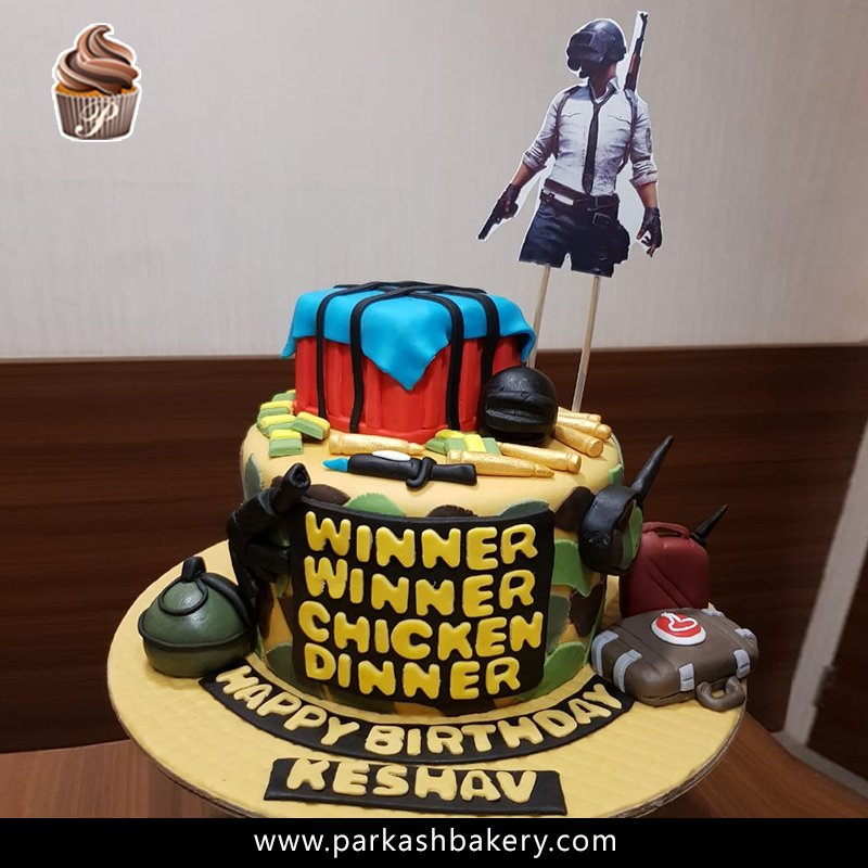 Parkash Bakery On Twitter A Pubg Themed Birthday Cake For Keshav
