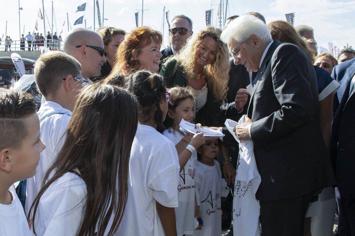 #Genova, il Presidente #Mattarella ha visitato il 58° #SaloneNautico