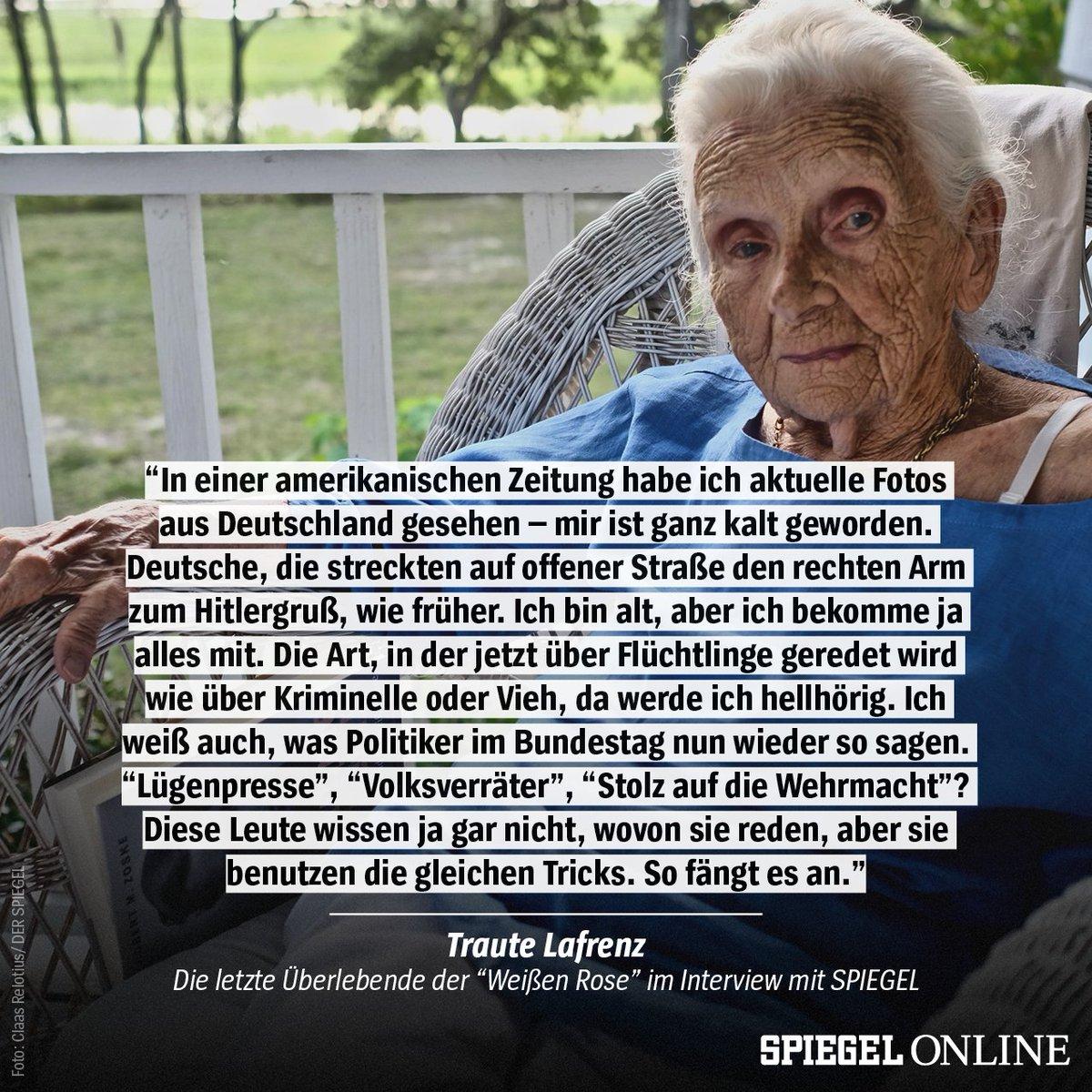 Wir haben die letzte Überlebende der 'Weißen Rose' in den USA besucht und mit ihr über ihr Leben und Gefahren, die niemals sterben, gesprochen ➡ (€) https://t.co/o13l4EpTC0