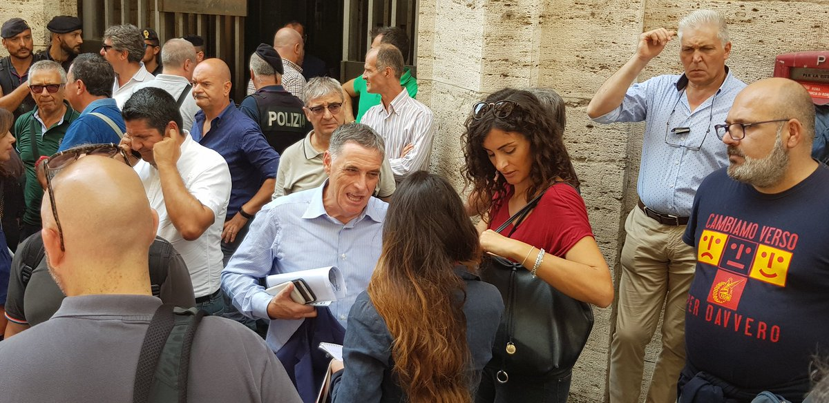 @UilmNazionale il Presidio continua, i Segretari convocati in riunione al Ministero dello #Sviluppo Economico #Roma#Uilm #ammortizzatorisociali @MinLavoro @minister  - Ukustom