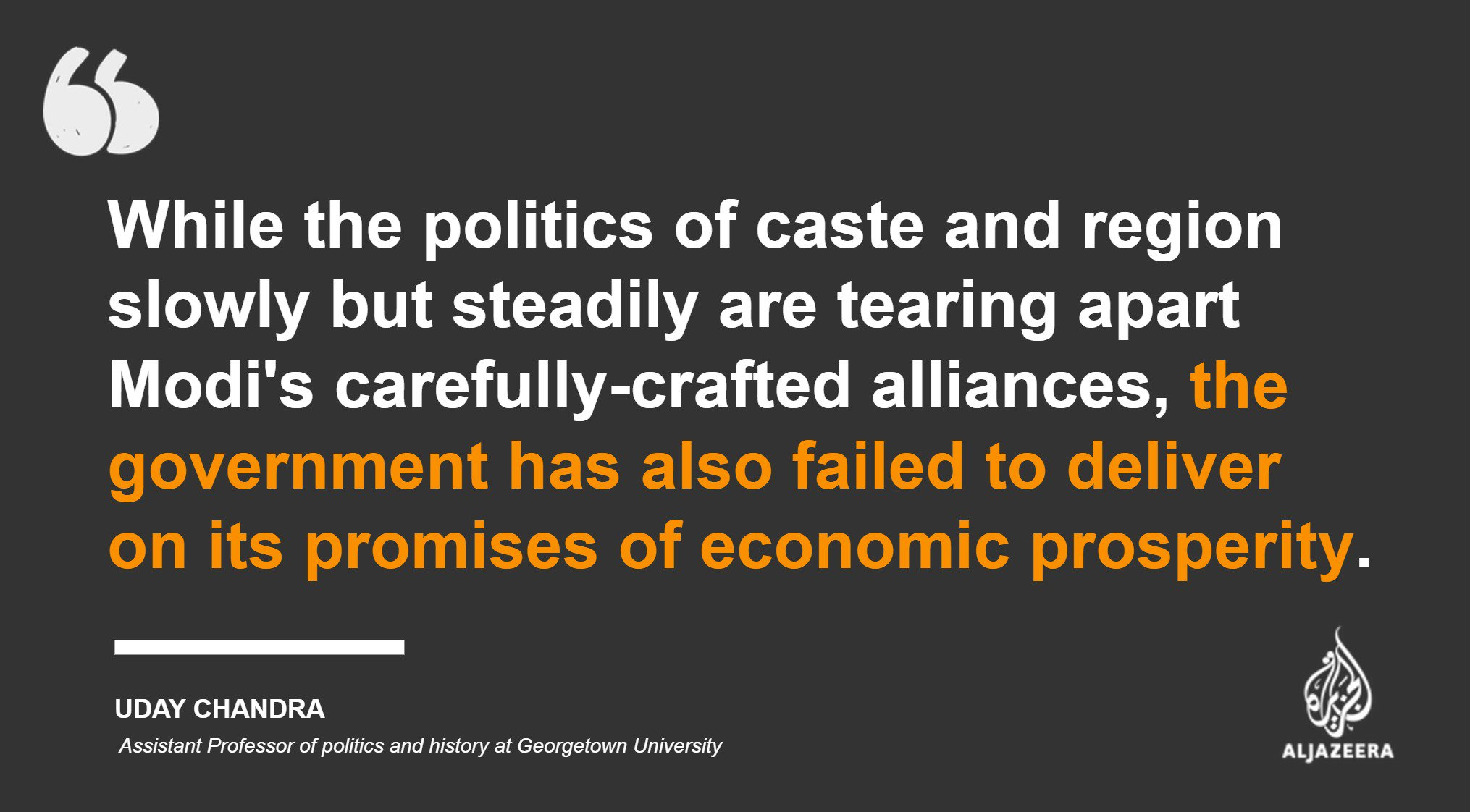 Modi's Hindu nationalism is stumbling https://t.co/msDD6eXb5K — #AJOpinion, by @ChandraUday https://t.co/2w5nNIgsLw