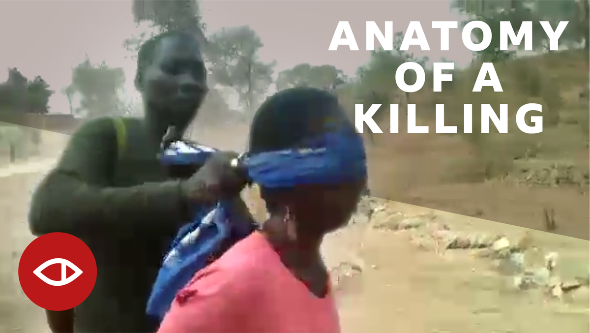 THREAD  In July 2018, a horrifying video began to circulate on social media.   2 women & 2 young children are led away by a group of soldiers. They are blindfolded, forced to the ground, and shot 22 times.    inv#BBCAfricaEyeestigated this atrocity. This is what we found...