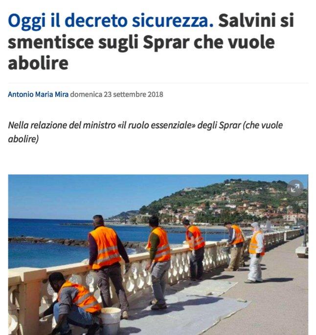 Più passano i giorni e più incomincio a pensare che questo Governo sia un troll: #Salvini ha dichiarato di voler abolire gli #Sprar, ma nella relazione inviata al Parlamento scrive che sono dei veri e propri punti di riferimento nel sistema di accoglienza dei #migranti   - Ukustom