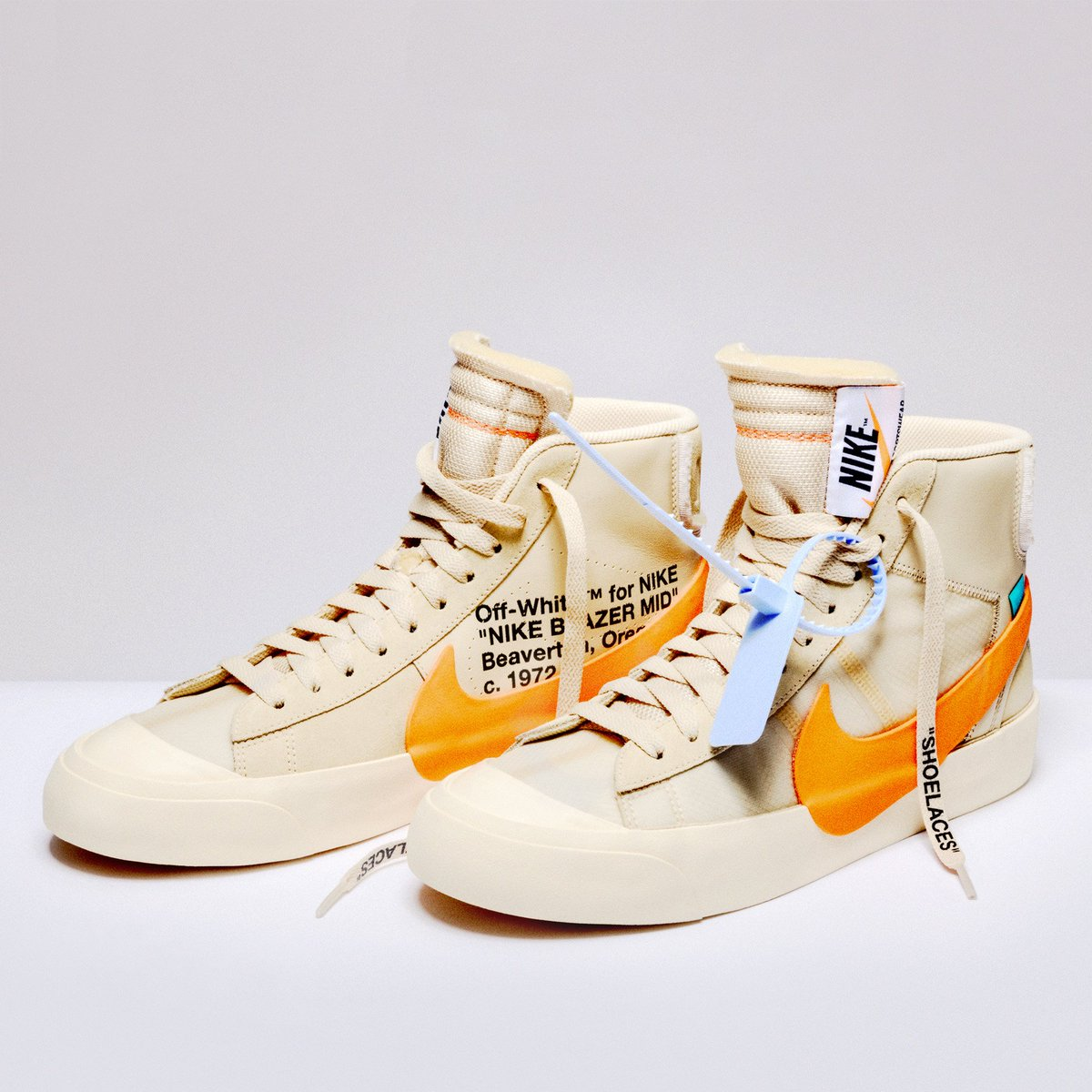"33e7b7317fbfbb The OFF-WHITE x Nike Blazer Mid ""All Hallows Eve"" and ""Grim Reaper"" is  coming soon to http   Nakedcph.com . The only thing spooky about this  upcoming ..."