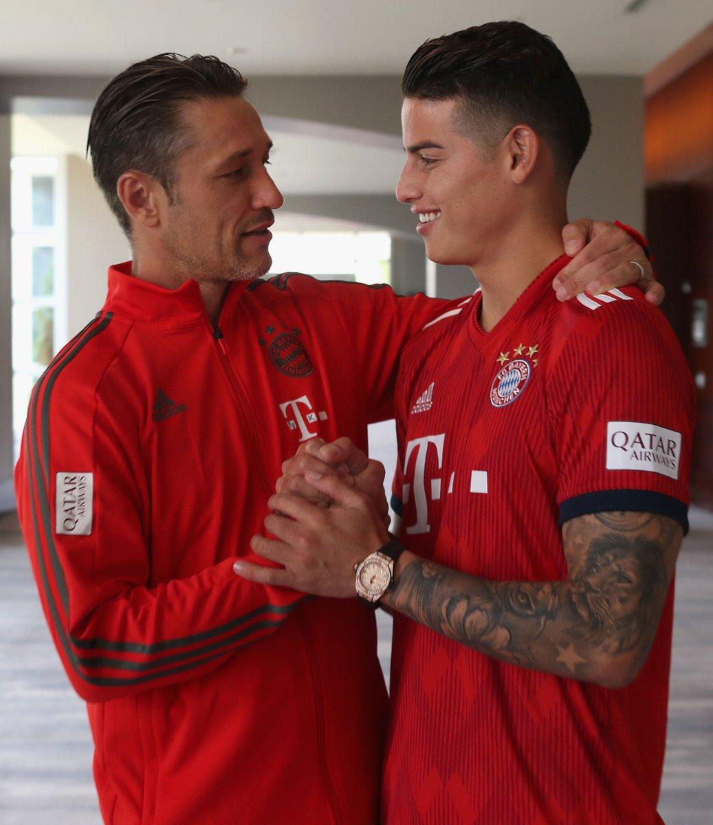 Niko #Kovac über @jamesdrodriguez: 'Er macht das sehr gut, ist immer anspielbar und findet immer eine Lösung. Er stellt sich in den Dienst der Mannschaft. Er hat einen hohen Status, nicht nur hier in München, sondern auch weltweit.' 🙌  #FCBayern #MiaSanMia