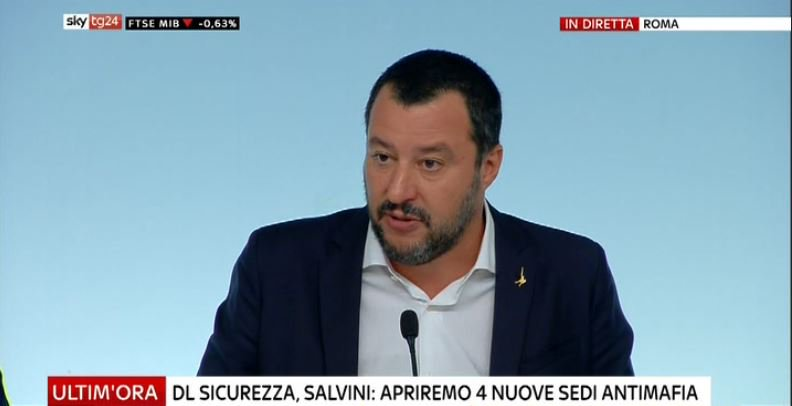 #UltimOra DL #Sicurezza, Salvini: apriremo quattro nuove sedi antimafia #Canale50 http://sky.tg/direttaskytg24  - Ukustom